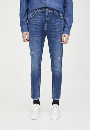 DUNKELBLAUE KAROTTENJEANS 05682524 - Slim fit -farkut - blue denim