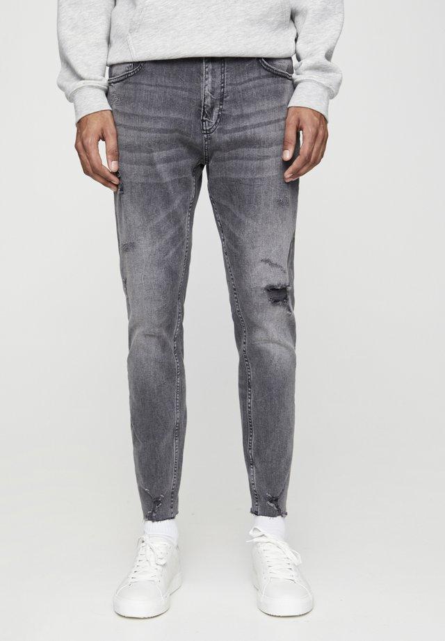 PREMIUM-KAROTTENJEANS MIT ZIERRISSEN 05684525 - Jeans slim fit - dark grey