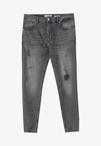 PULL&BEAR - PREMIUM-KAROTTENJEANS MIT ZIERRISSEN 05684525 - Slim fit jeans - dark grey - 5