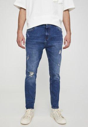MIT ZIERRISSEN  - Zúžené džíny - blue grey