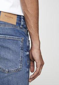 PULL&BEAR - Skinny džíny - mottled dark blue - 4