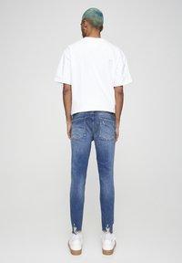 PULL&BEAR - Skinny džíny - mottled dark blue - 2