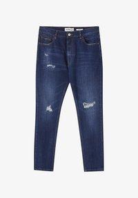 PULL&BEAR - MIT ZIERRISSEN - Jeans Tapered Fit - dark-blue denim - 5