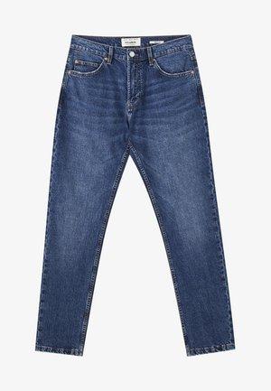 Jeans straight leg - mottled light blue