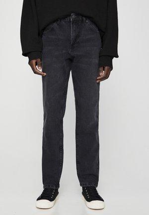 Jean droit - mottled dark grey