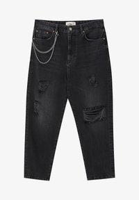 PULL&BEAR - MIT ZIERRISSEN  - Relaxed fit jeans - mottled dark grey - 6