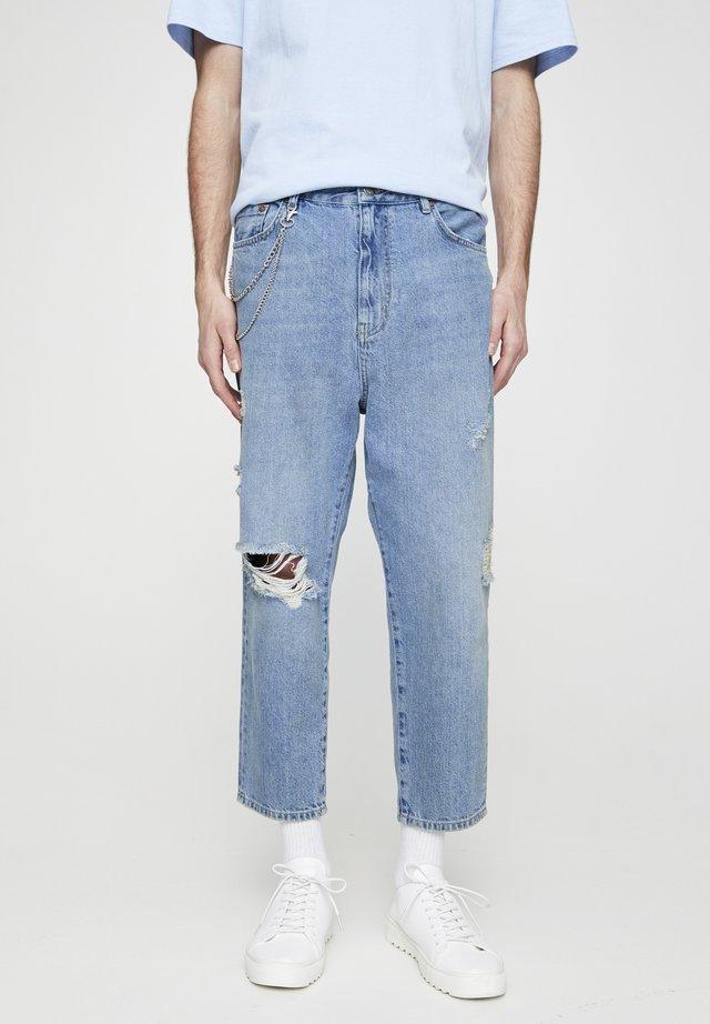 MIT ZIERRISSEN  - Jeans baggy - blue denim