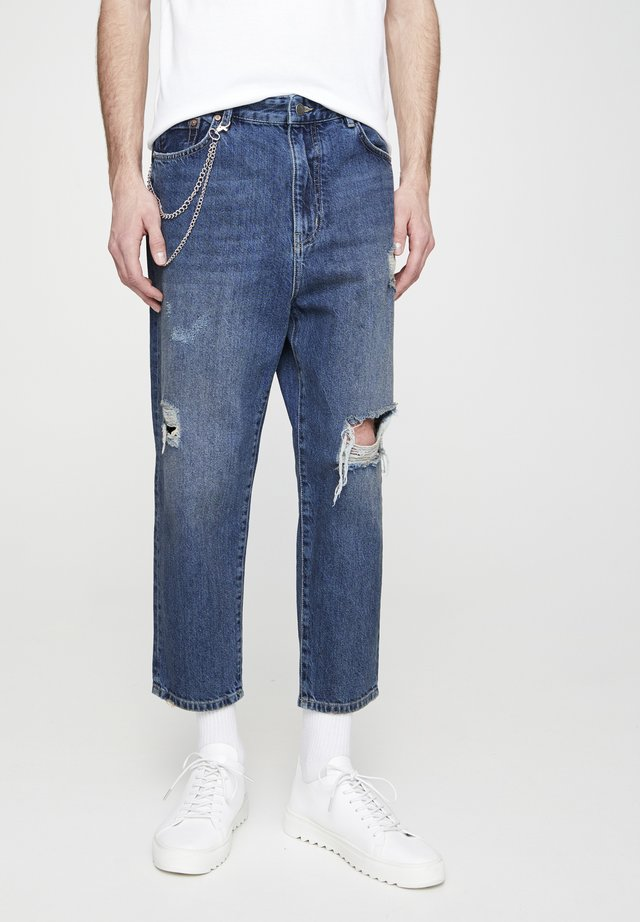MIT ZIERRISSEN  - Jeans baggy - blue-grey
