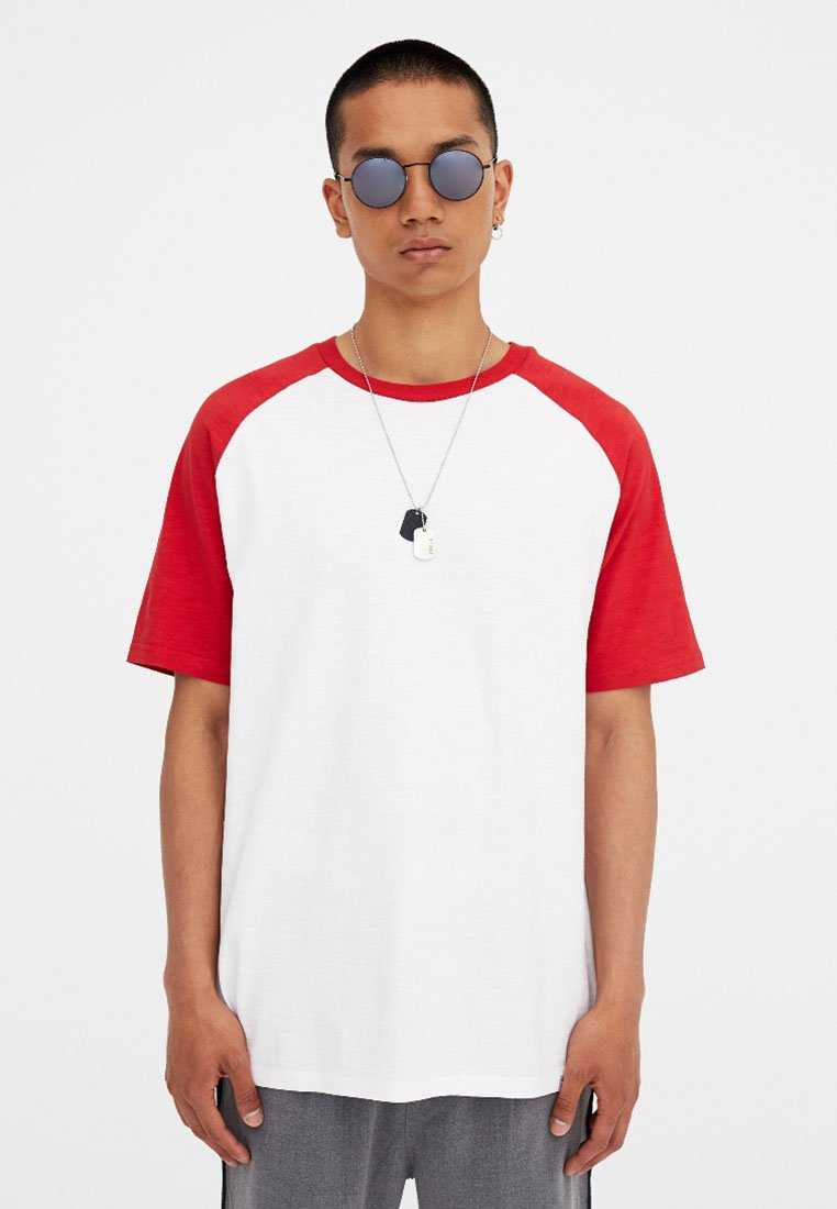 shirt Red Pull Join amp;bear LifeT Imprimé IeH2DWY9bE