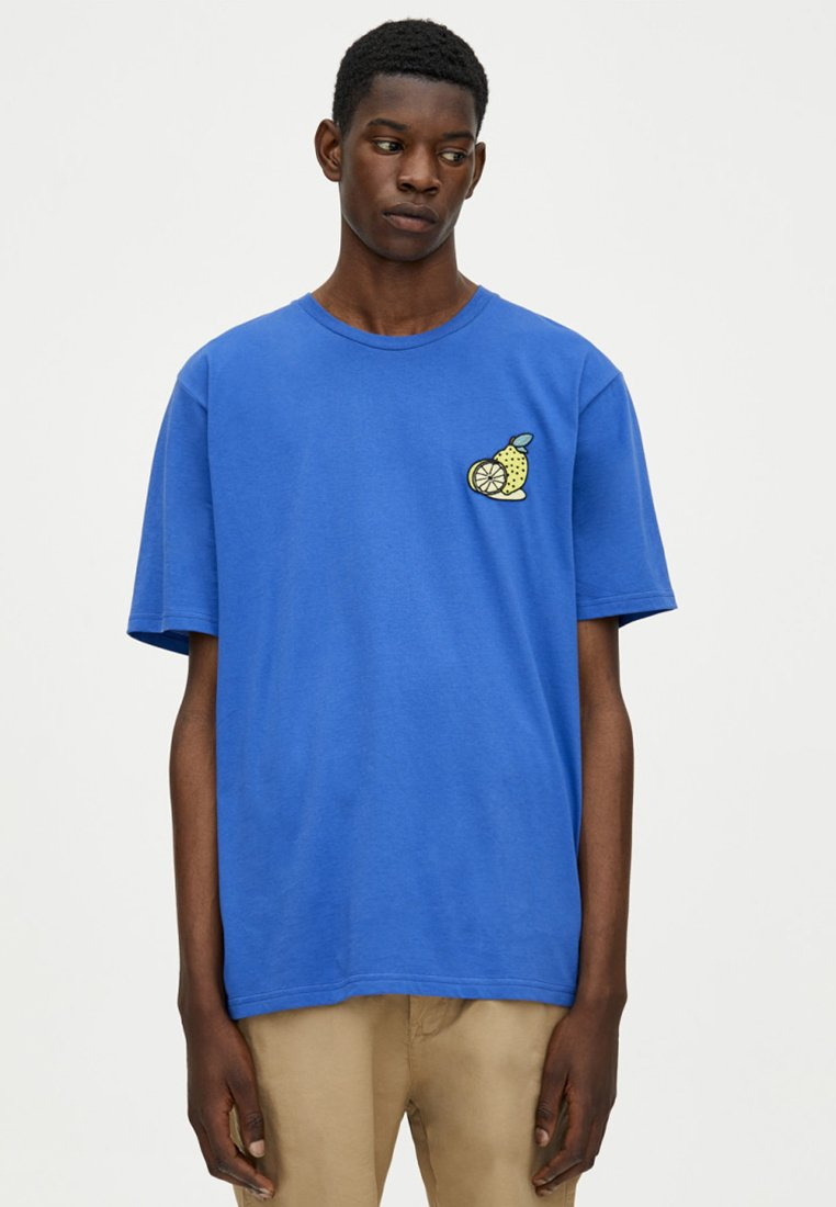 Pull Mit SloganT Imprimé shirt amp;bear Blue HIWE9D2Y