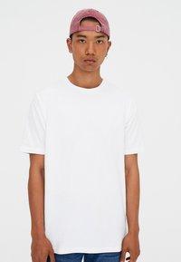 PULL&BEAR - T-shirt basic - white - 0