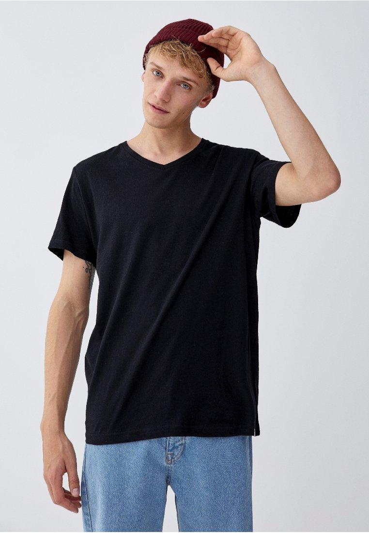 PULL&BEAR - JOIN LIFE - T-Shirt basic - black