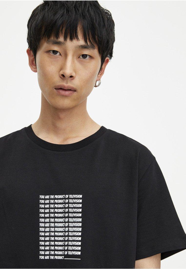 Long fitT Pull shirt Black amp;bear Imprimé PkZTOiXu