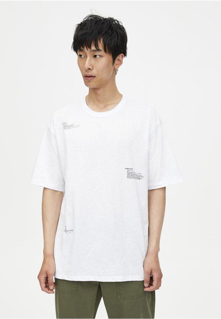 Pull shirt White SlogansT amp;bear Imprimé Mit iPkXuZ