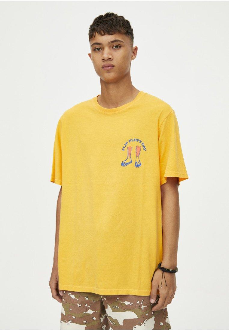 PULL&BEAR - T-shirts print - neon yellow
