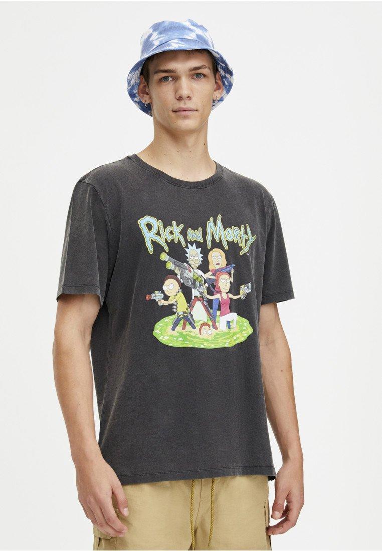amp;bear shirt Imprimé Black Rickamp;T Pull dxQhCstr