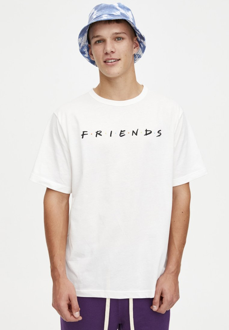 PULL&BEAR - Print T-shirt - off-white