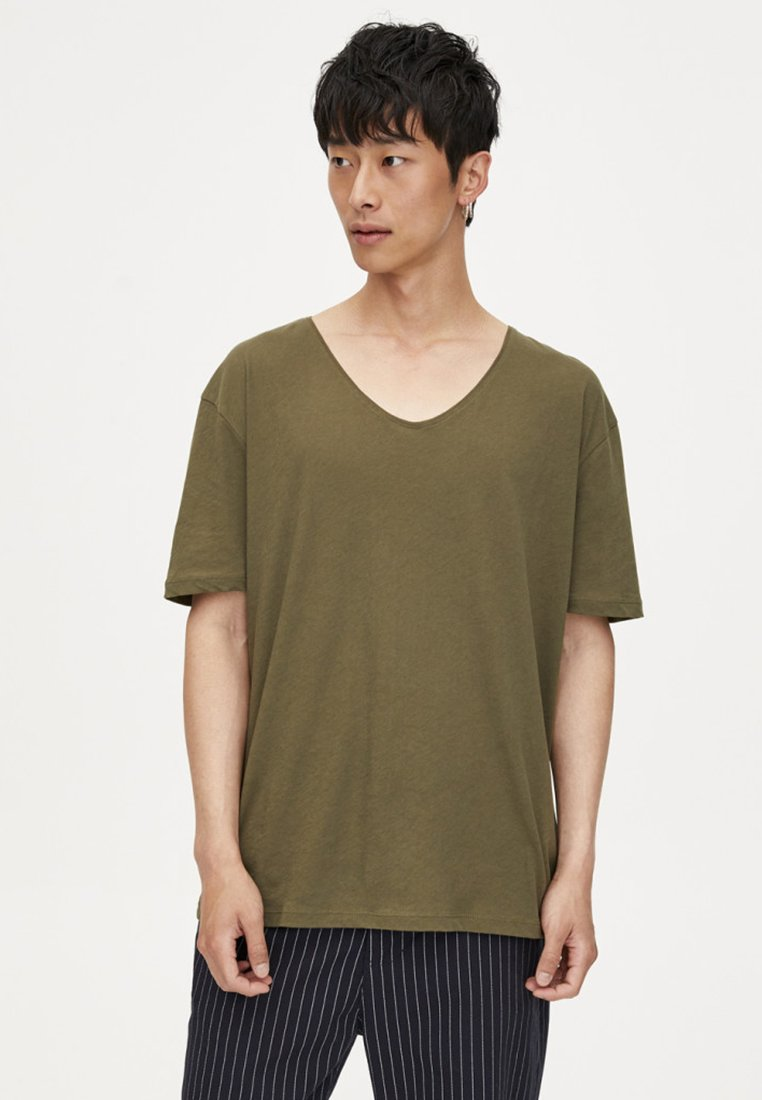 ausschnittT Pull Weitem Basique shirt Mit Khaki V amp;bear yb7mYf6vIg
