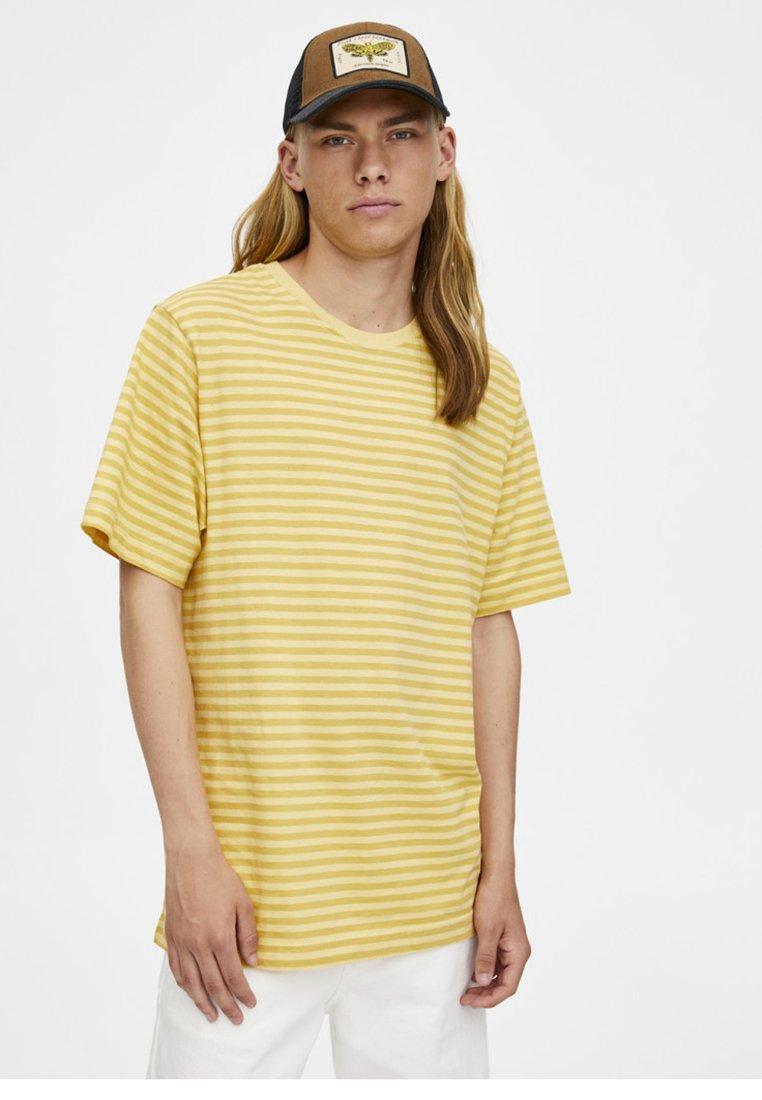Mit Schmalem Pull Imprimé Yellow amp;bear shirt StreifenprintT rtshCQd