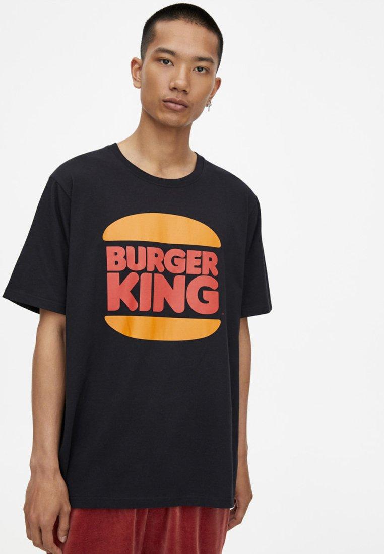 KingT Burger shirt Black Imprimé Pull amp;bear HD2EWbe9IY