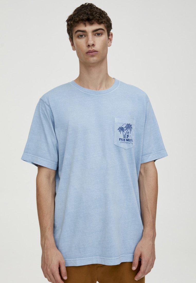 T Pull Pull shirt amp;bear amp;bear ImpriméBlue T 8wOn0vmN
