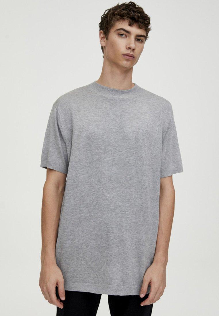 PULL&BEAR - T-Shirt basic - light grey