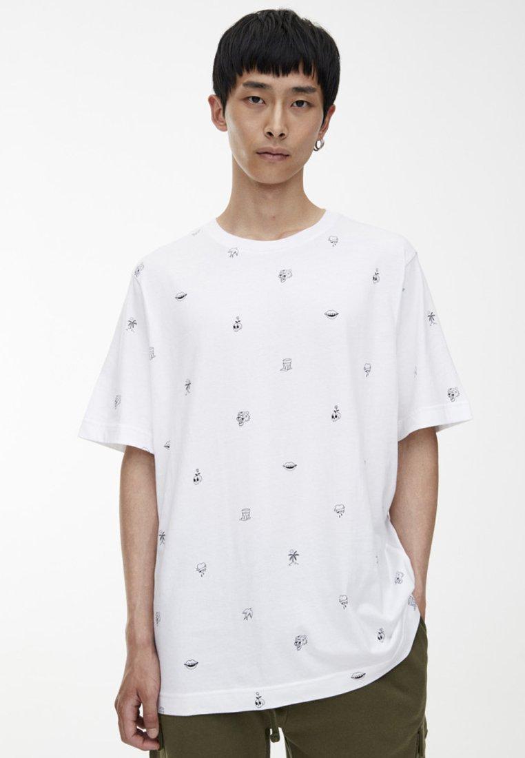 Mit shirt Imprimé MikroprintT amp;bear White Pull CredWBox