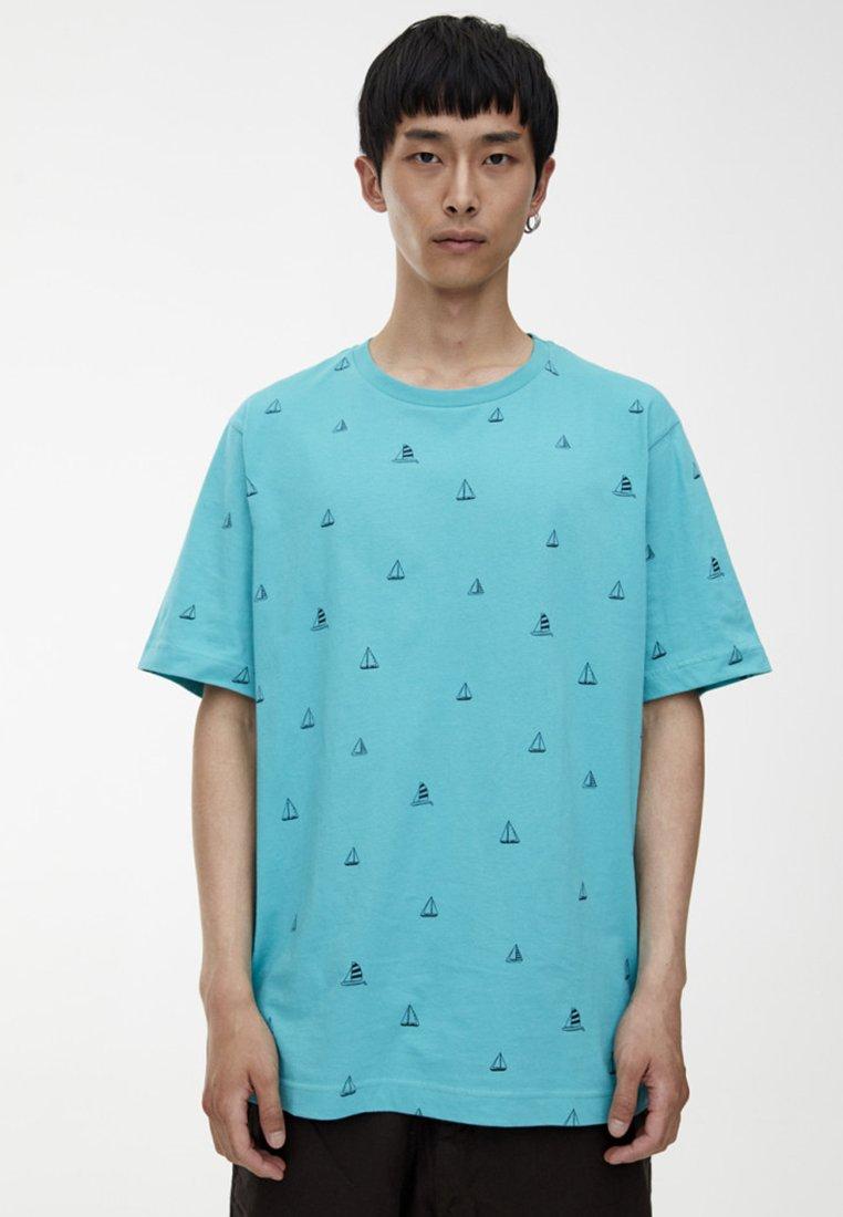 PULL&BEAR - MIT MIKROPRINT  - T-Shirt print - green