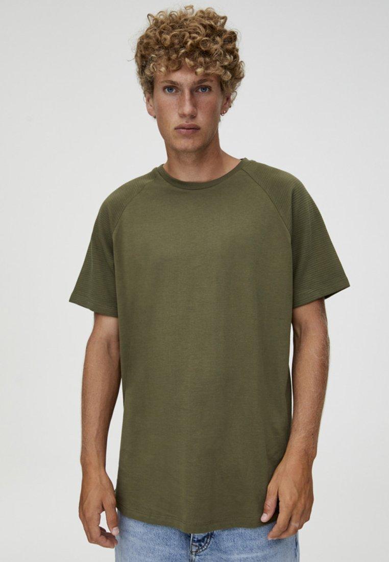 PULL&BEAR - T-Shirt basic - khaki