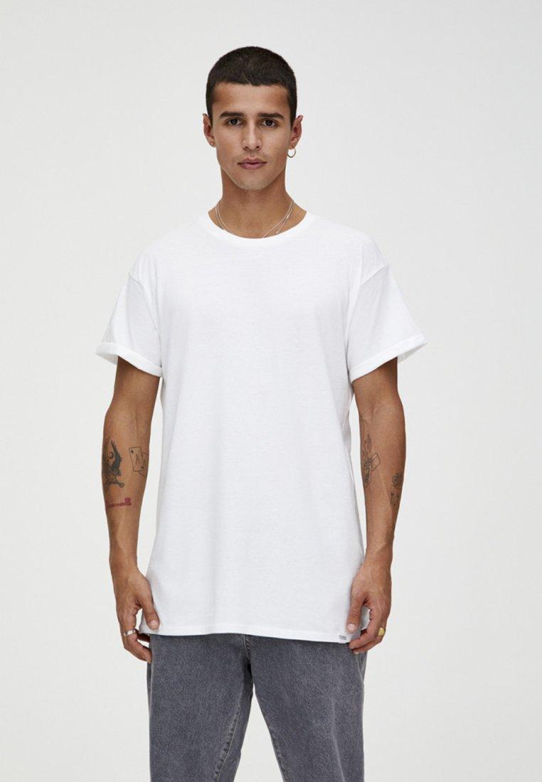 PULL&BEAR - T-Shirt basic - white