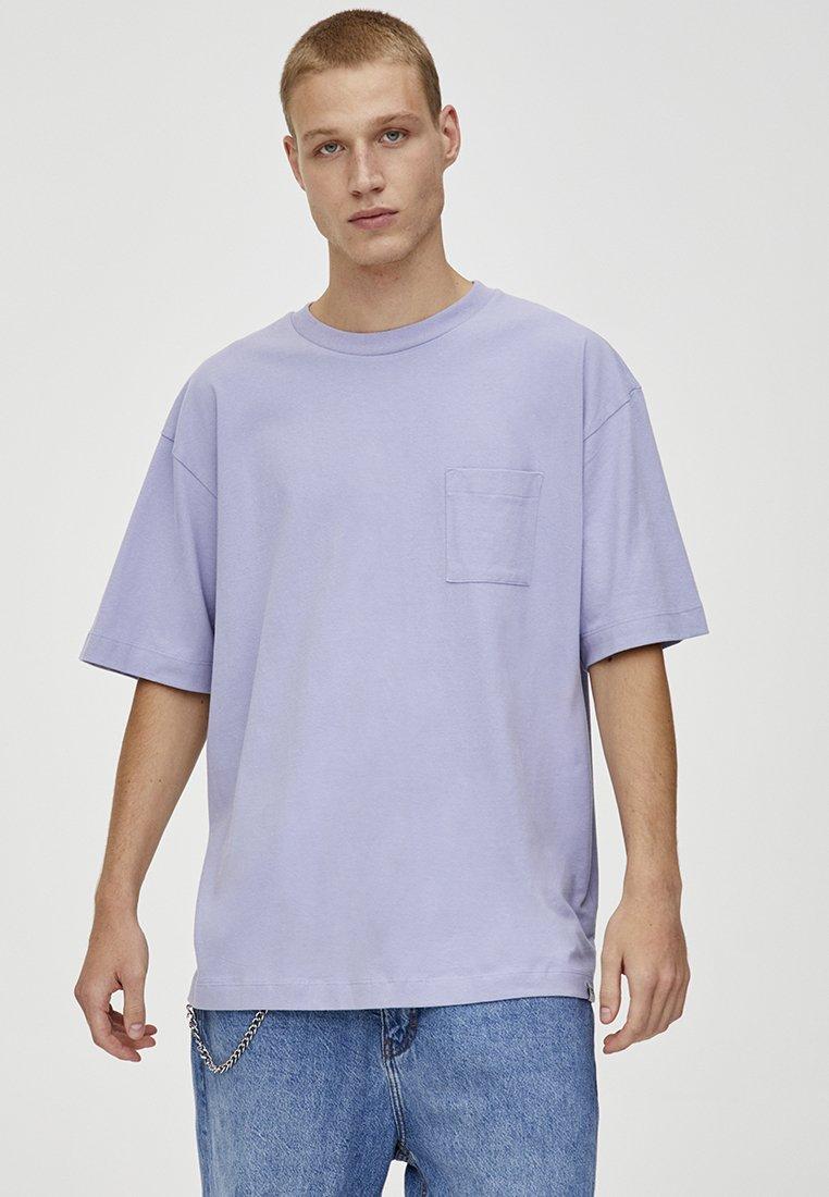 PULL&BEAR - T-Shirt basic - mauve