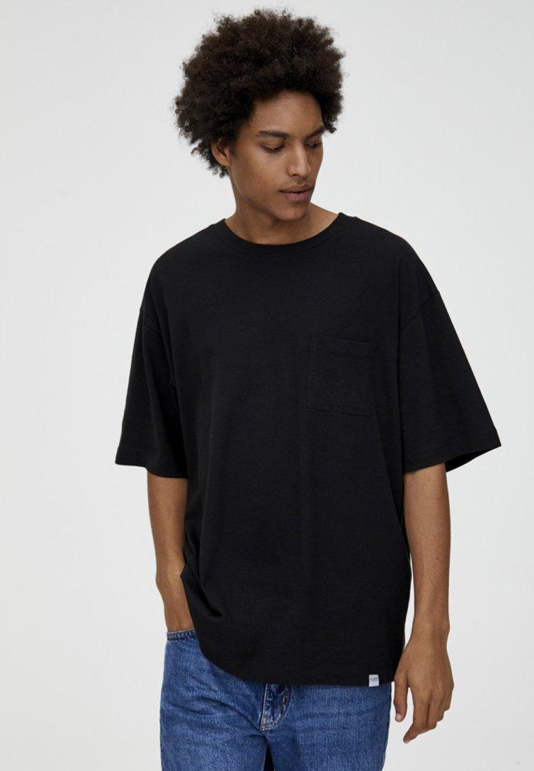 PULL&BEAR - T-Shirt basic - black