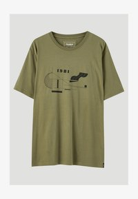 PULL&BEAR - MIT GEOMETRISCHEN FORMEN - T-Shirt print - khaki - 5