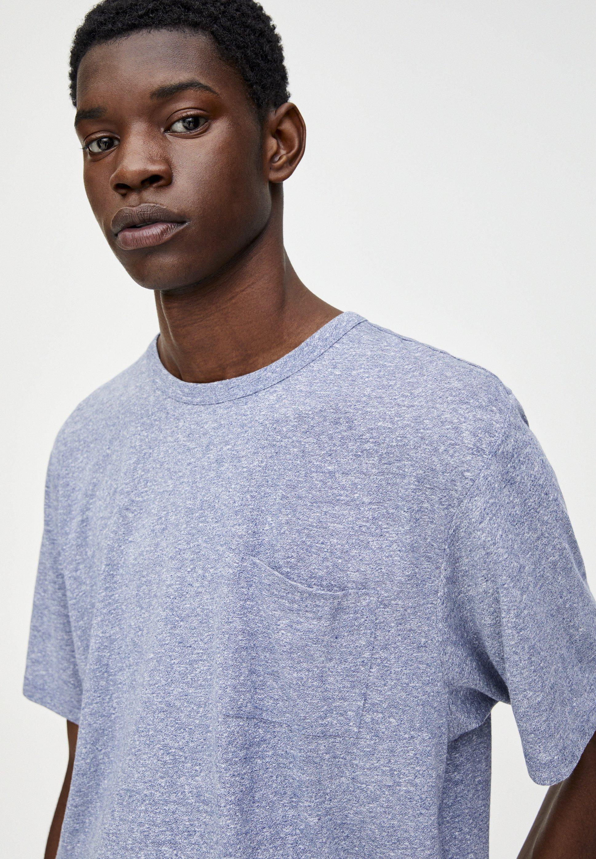 PULL MIT blue Shirt BRUSTTASCHET dark amp;BEAR basic IbfygmY76v