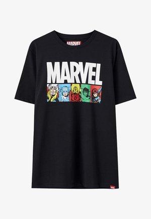 SCHWARZES T-SHIRT MIT MARVEL CHARAKTEREN 05234527 - Print T-shirt - black