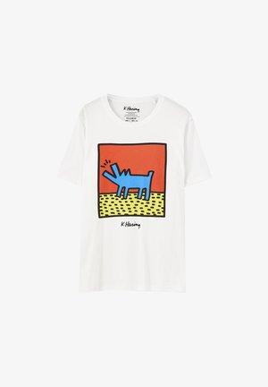 T-SHIRT HARING HUND 05234901 - T-Shirt print - white