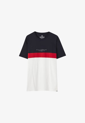 MIT COLOUR-BLOCKS - Print T-shirt - red
