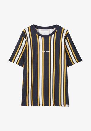 MIT LÄNGSSTREIFEN  - T-shirt z nadrukiem - mottled dark blue