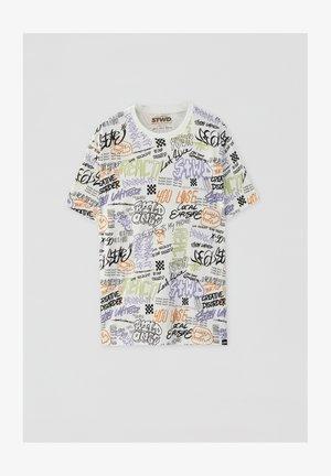 MIT GRAFFITI - T-shirts print - white