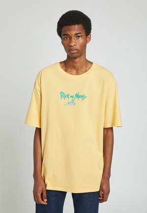 RICK MORTY - T-shirt imprimé - yellow