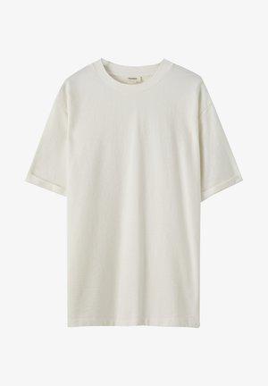 OVERSIZE LEINEN - Basic T-shirt - white