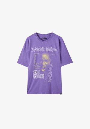 Triko spotiskem - mottled purple