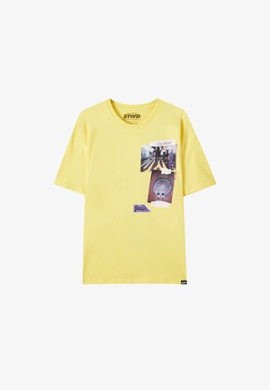 MIT FOTOPRINT - Print T-shirt - yellow