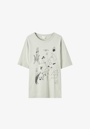 T-shirt imprimé - beige