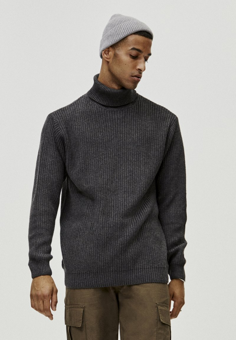 PULL&BEAR - MIT VOLLPATENTMUSTER - Trui - dark grey