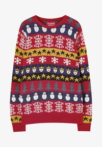 PULL&BEAR - MIT COLOUR-BLOCK-PRINT - Neule - red - 5