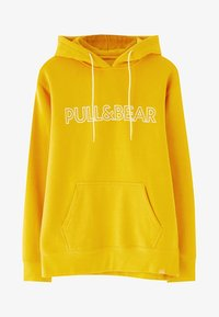 PULL&BEAR - MIT KAPUZE UND SLOGAN - Hoodie - yellow - 5