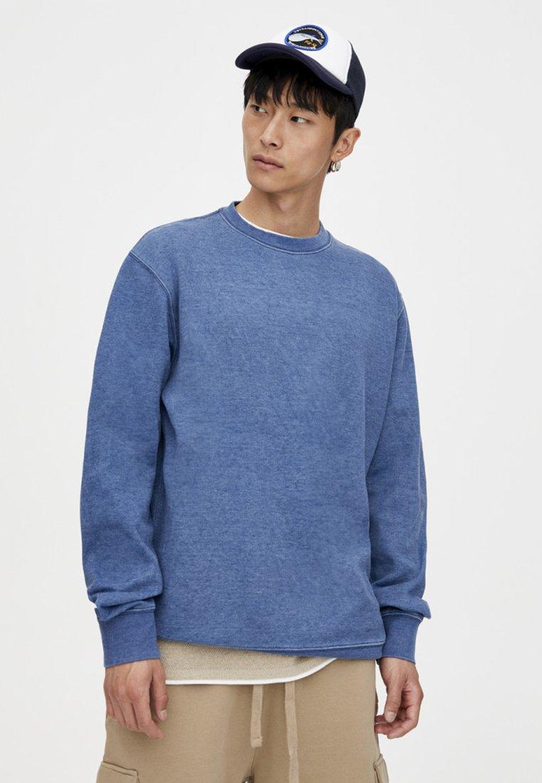 PULL&BEAR - IM WASHED-LOOK - Sweatshirt - blue
