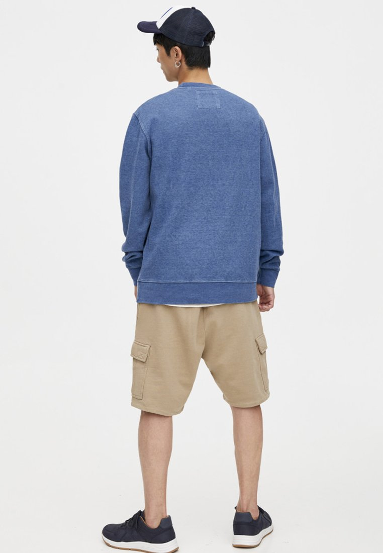 amp;bear Washed lookSweatshirt Blue Pull Im vnmN08w