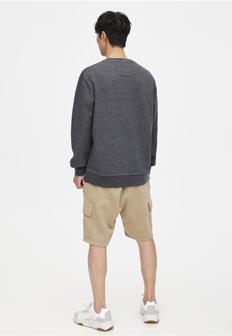 amp;bear lookSweatshirt Im Pull Washed Black SzjUVqMpGL